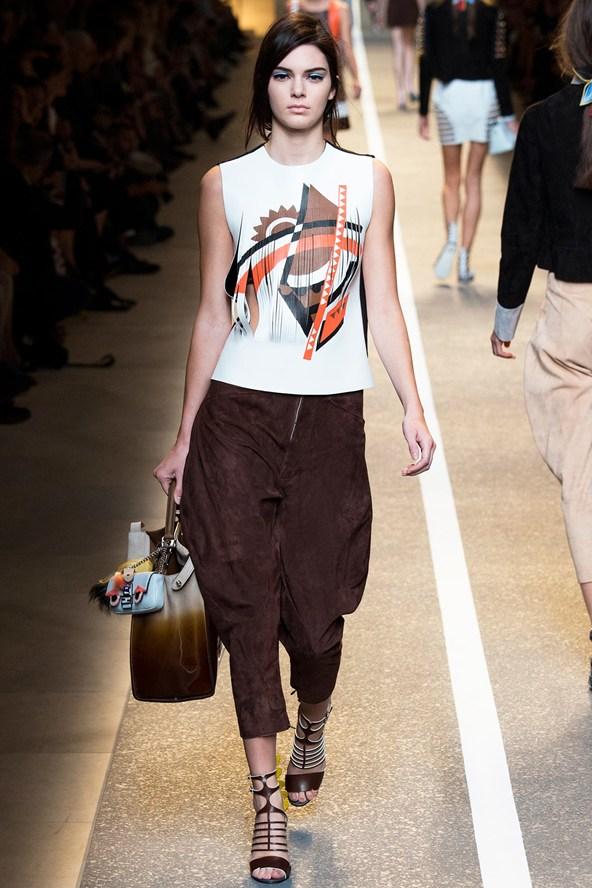 Kendal Jenner Fendi Milan Fashion Week Spring/Summer 2015