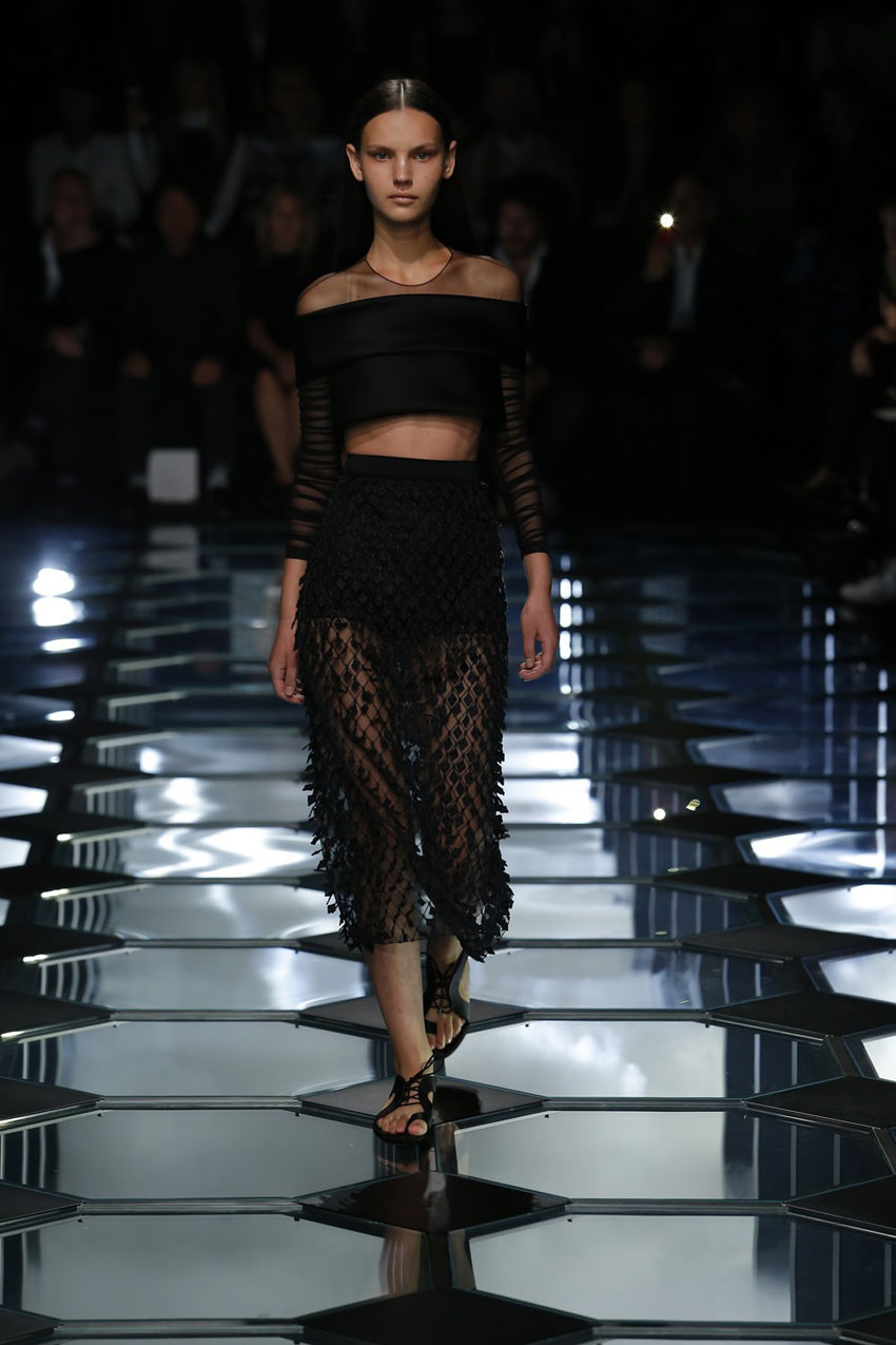 alenciaga show as part of the Paris Fashion Week Womenswear Spring/Summer 2015 on September 24, 2014 in Paris, France.