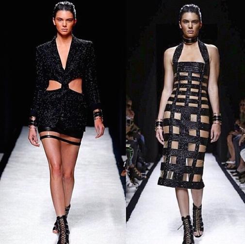 Kendall Jenner at Balmain Paris Fashion Week Spring/Summer 2015 collection