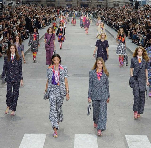 Chanel SS15 Womens Rights Rally at Paris Fashion Week