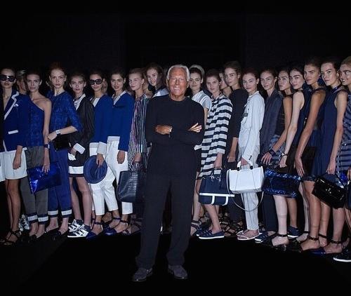 Giorgio Armani at Milan Fashion Week SS15