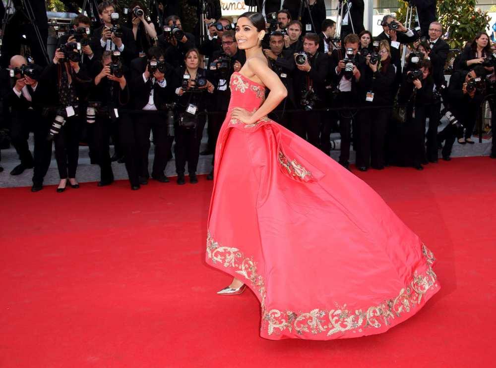Freida Pinto Wearing  Oscar de la Renta