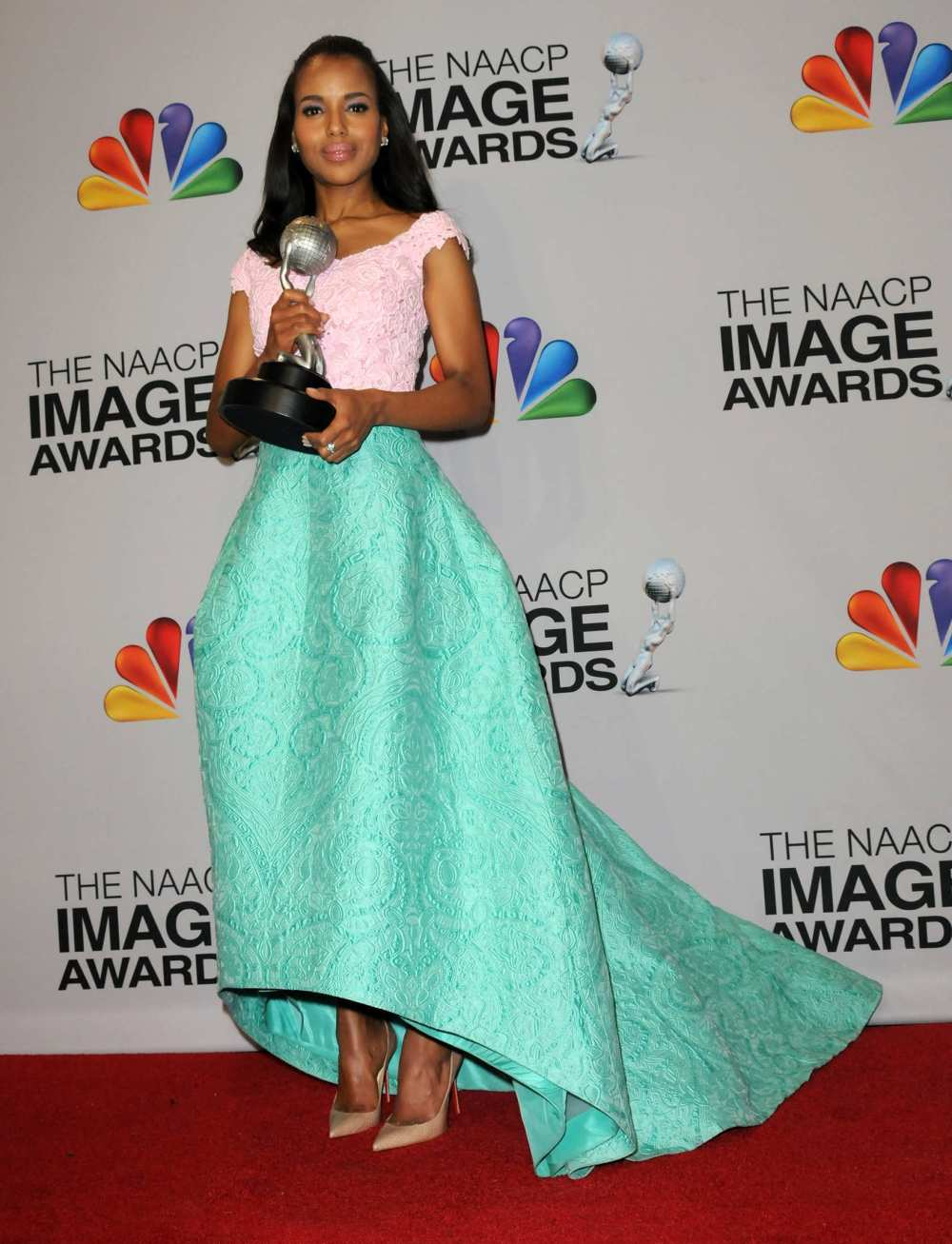 Kerry Washington Wearing  Oscar de la Renta