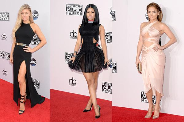 Fergie, Nicki Minaj, and J Lo at the AMA's