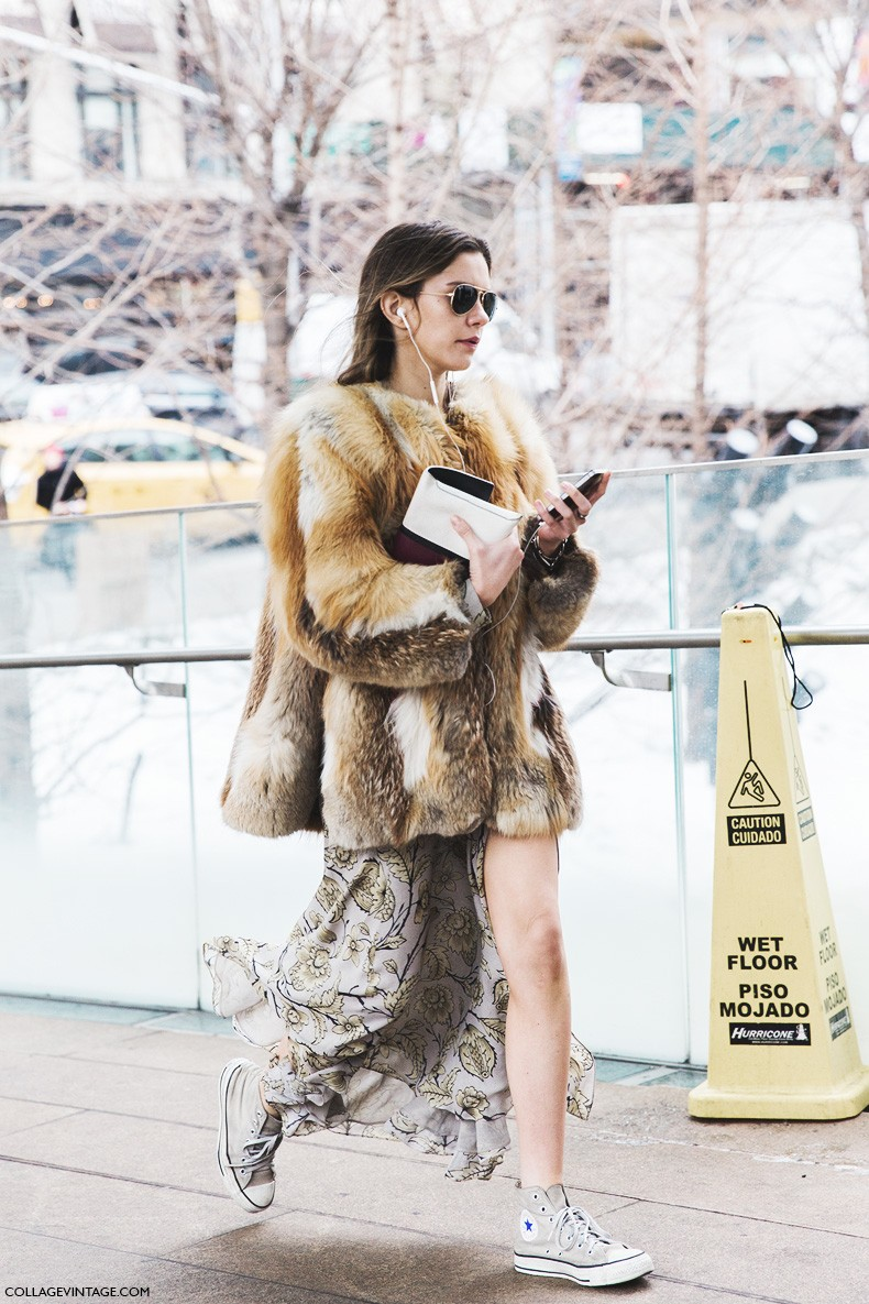 New_York_Fashion_Week-Fall_Winter_2015-Street_Style-NYFW-Fur_Coat-Long_Skirt-COnverse-2-790x1185